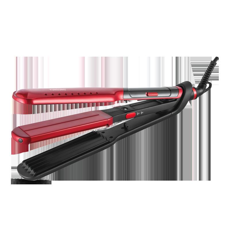 Nueva herramienta de diseño de moda rizador de pelo 2 en 1 plancha de pelo